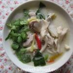 Chicken in Sour Coconut Cream Soup - Tom Kha Gai