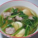 Tofu clear soup - Gaeng Jued Taohu Musab