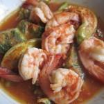 Shrimp Tamarind Soup with Fried Egg Cha-om
