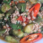 Stir-Fry Long Green Eggplant with Basil - Pad Ma Kue Ya